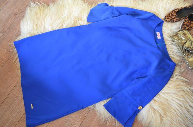 ADIKA_Prosta kobaltowa sukienka_42