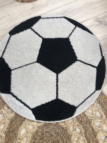 Dywanik piłkarski okrągły piłka biało czarny dziecięcy chłopięcy