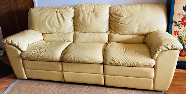 Sofá em pele c/ 2 chaises long  CONFORAMA
