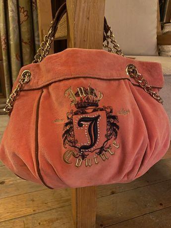 Torebka Juicy Couture velvet róż
