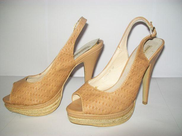 śliczne sandałki wysoka szpilka 13 cm rozmiar 37