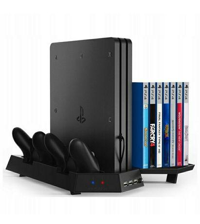 Podstawka chłodząca ładowarka PS4 SLIM PRO 14 gier