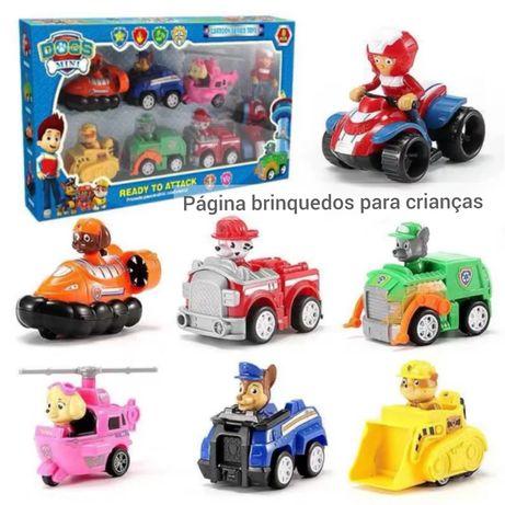 Pack patrulha pata com 6 carros e 1 mota com ryder