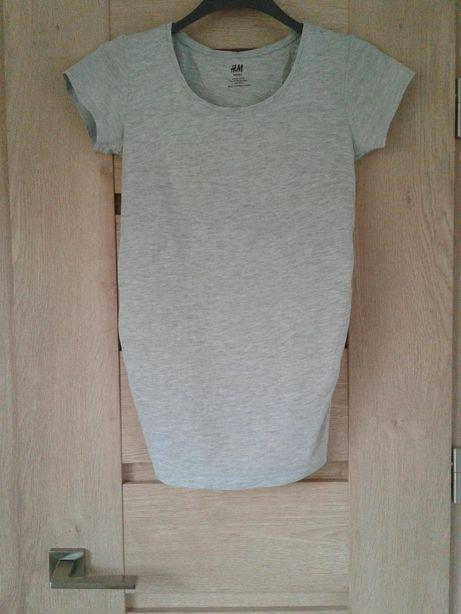 T-shirt ciążowy szary granatowy HM mama XS