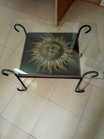 Mesa de centro pintada à mão