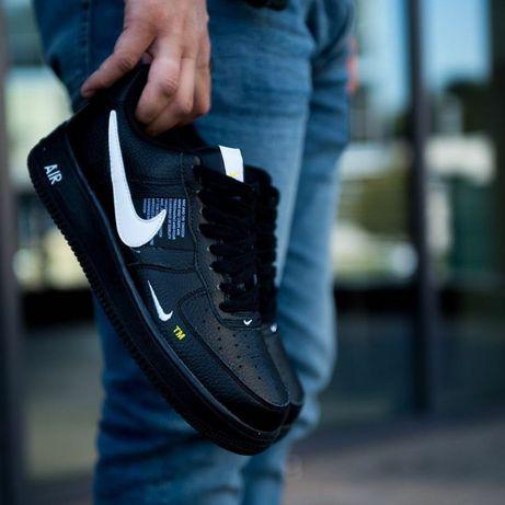 Мужские кроссовки найк чёрные Nike Air Force