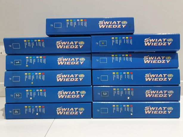 Świat Wiedzy kolekcja prawie komplet Encyklopedia 5,5 tys. stron