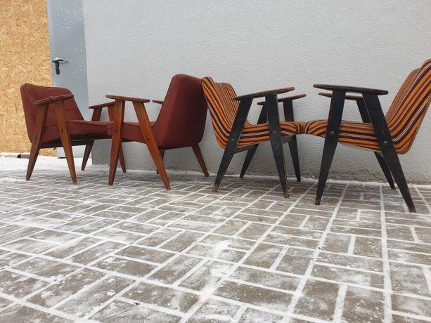 Fotel PRL typ 366 Chierowski Design PRL