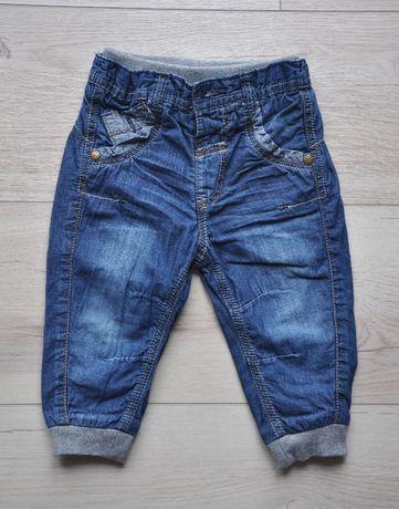 George ocieplane spodnie jeans bdb rozm. 74