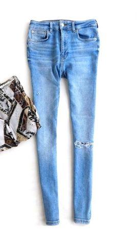 Винтажные облегающие джинсы с высокой талией штаны в стиле 80-ых zara