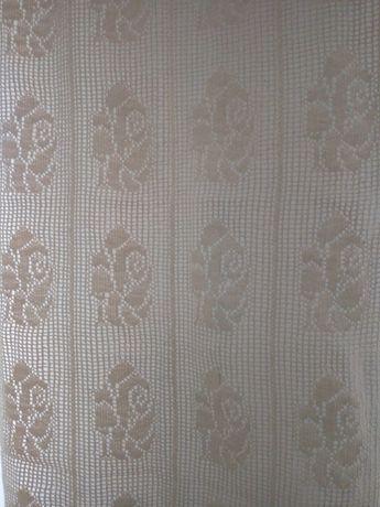 Firanka szydełkowa koronka bawełna. Upominek prezent dekoracja