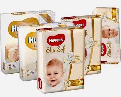 Продам подгузники Huggies elite soft 1, 2, 3, 4, 5.