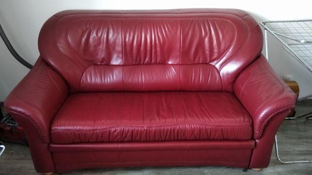 Komplet skórzany kanapa sofa fotele