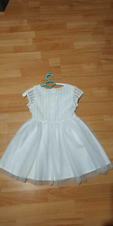 Sukienka biała + bolerko lupilu 110/116