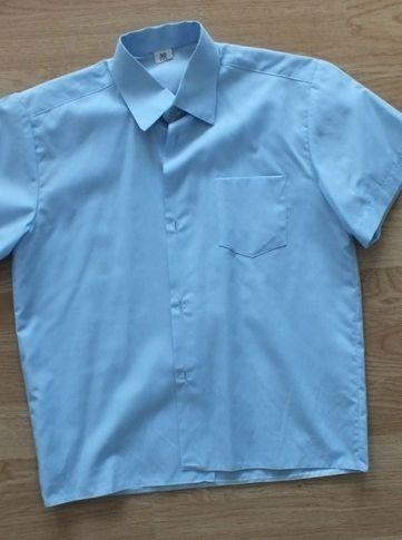 błękitna koszula ślub szkoła krótki rękaw 122