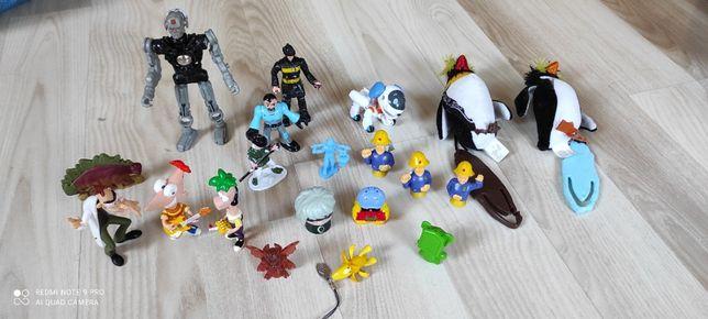 Figurki różne zabawki fineasz pingwiny strażak sam