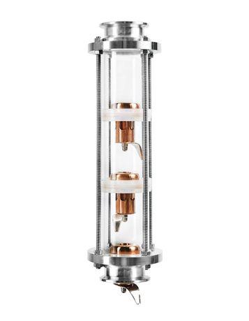 Колпачковая, тарельчастая колонна, дистиллятор. 3 уровни