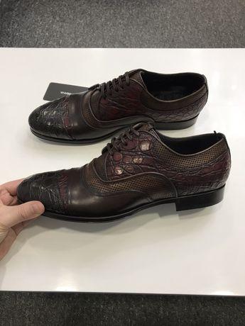 Мужские кожаные туфли Dolce&Gabbana Дольче Габбана крокодил оригинал