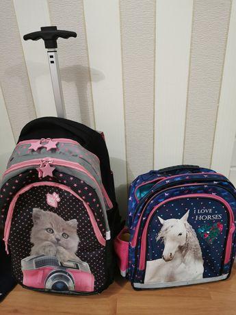 Plecak szkolny koń koty