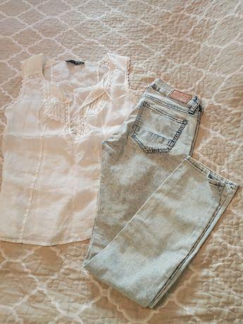 Голубые джинсы варенки Colins
