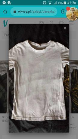 Koszulka biala na Wf 116