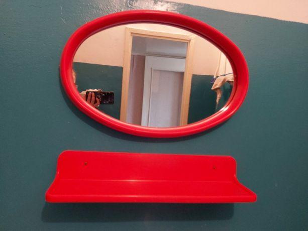 Продам б/у зеркало, полочку и мыльницу для ванной комнаты
