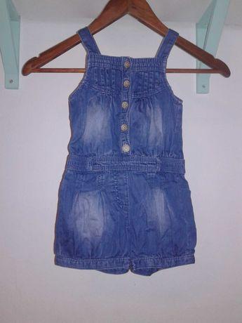 kombinezon next 2-3 lata 98 jeans lato dziewczynka