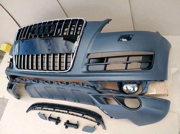 Бампер Audi Q7 Ауди Кью7 телевизор, шахты фар, фари, капот