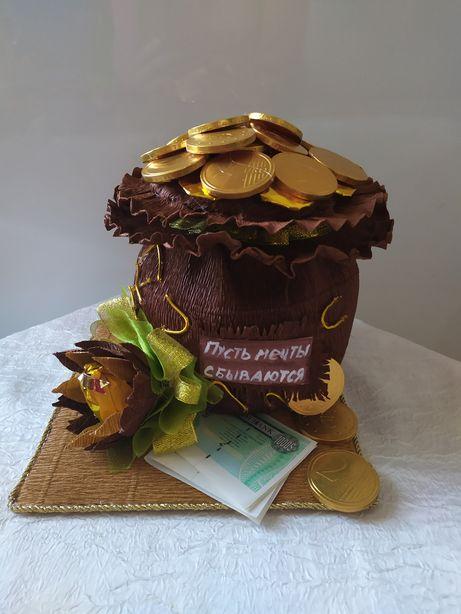 Мешочек с шоколадными монетами