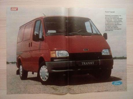 Plakat Poster Ford Transit 33,5cm x 46,5cm Samochody Dostawcze Auto