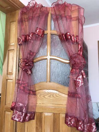 Тюль штори з ламбрикенами