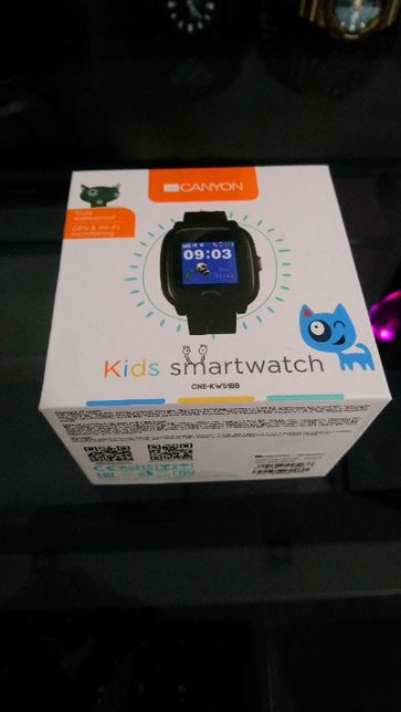 Детские смарт часы Canyon Polly GPS Black (CNE-KW51BB)