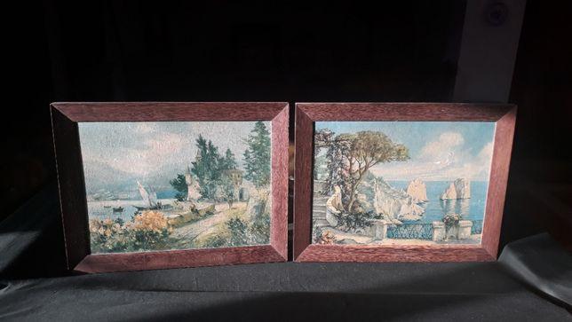 Quadro moderno tela; Paisagens clássicas Azulejos árabes cópia antigos