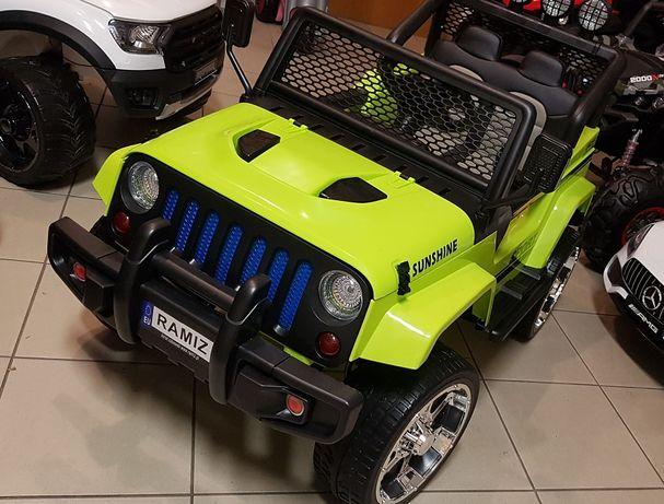 Duży Jeep 4x4 Drifter na akumulator s2388 napęd na 4 koła