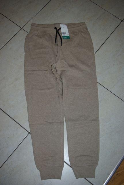 Nowe spodnie dresowe beżowe H&M 12-13 lat 158 cm