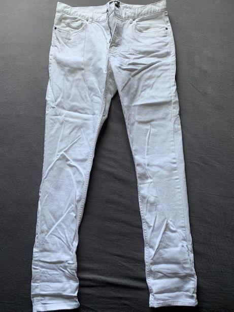 spodnie męskie rurki białe hm rozmiar 32