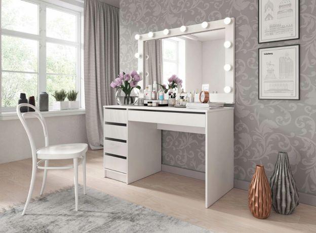 Biurko - toaletka biały mat z szufladami 120 x 55 NOWOŚĆ