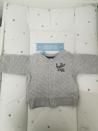 Bluza 68 H&M pikowana szara basebolowka