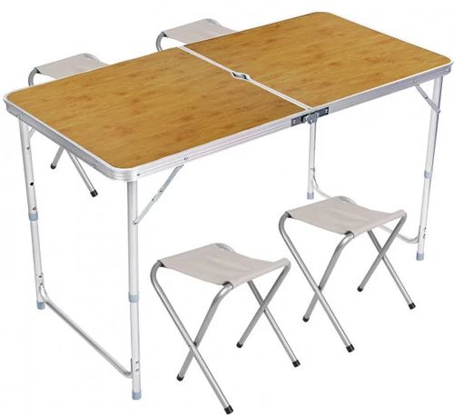 Стол для пикника раскладной со 4 стульями Folding Table 120х60х55/60/7