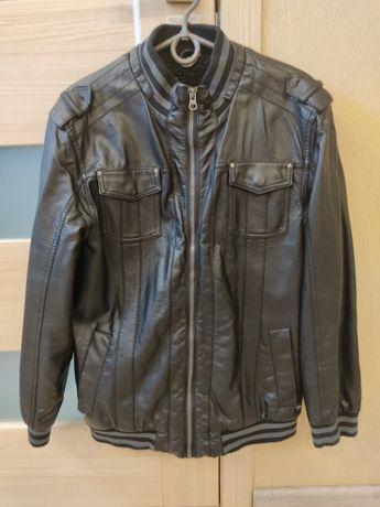 Осенняя курточка. Кожаная   Размер - [Длина - 62см, Длина рукава - 56с