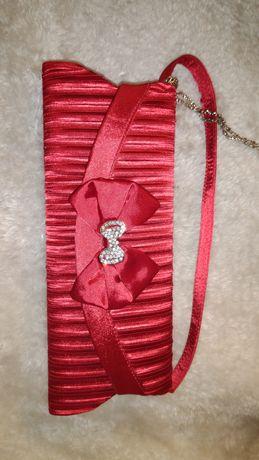 Torebka kopertówka Czerwona