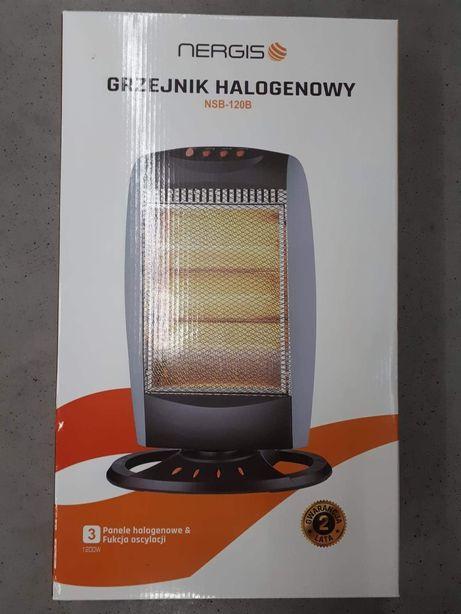 Grzejnik halogenowy termowentylator z oscylacją 1200W Nergis nowy