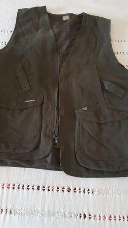Colete de caça verde e casaca