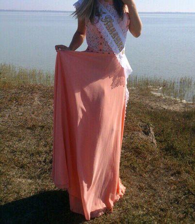 Выпускное дизайнерское вечернее платье Enna Levoni пудровое розовое