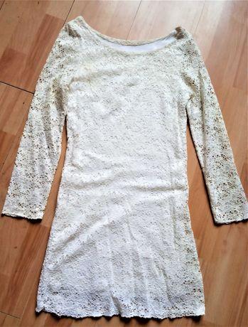 Sukienka Biała koronkowa ślub , poprawiny