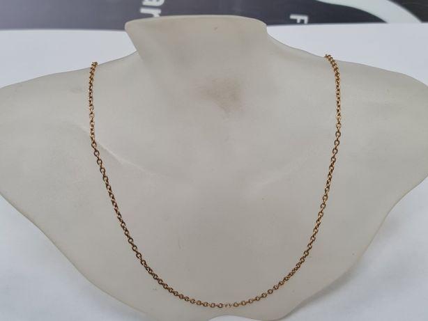 Warmet! Klasyczny złoty łańcuszek męski / damski/ 585/ 5.34 gram/ 55cm