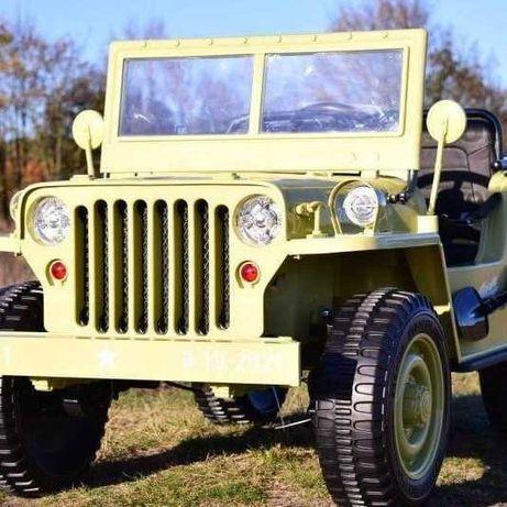 Auto na akumulator Jeep Wojskowy 3 osobowy 4x45W