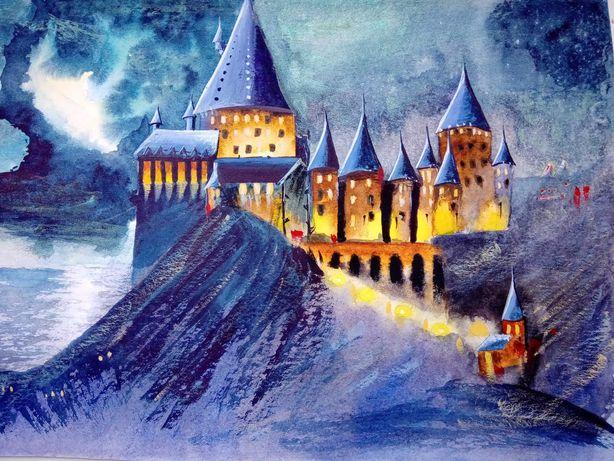 Гарри Поттер. Хогвардс и хижина Хагрида.