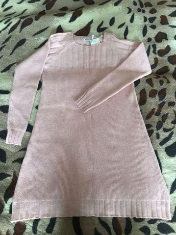 Шерстяное платье розового цвета, размер S-L
