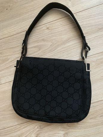 Torebka Gucci baquette mala torebka na ramię czarna